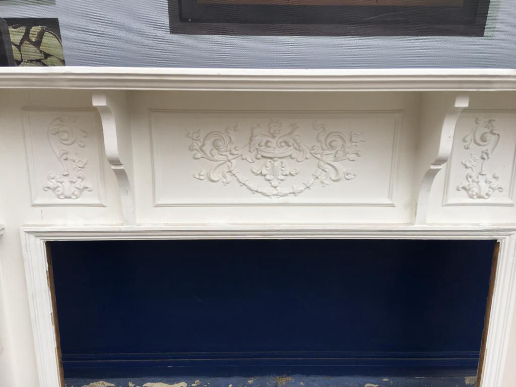 GX-20015 - Victorian Painted Jesso Wooden Mantlepiece