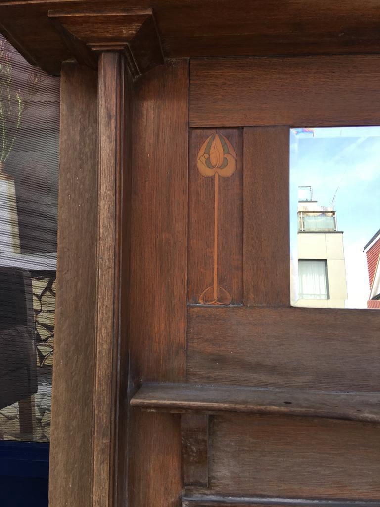 GX-20016 - Art Nouveau Mirrored Wooden Mantlepiece
