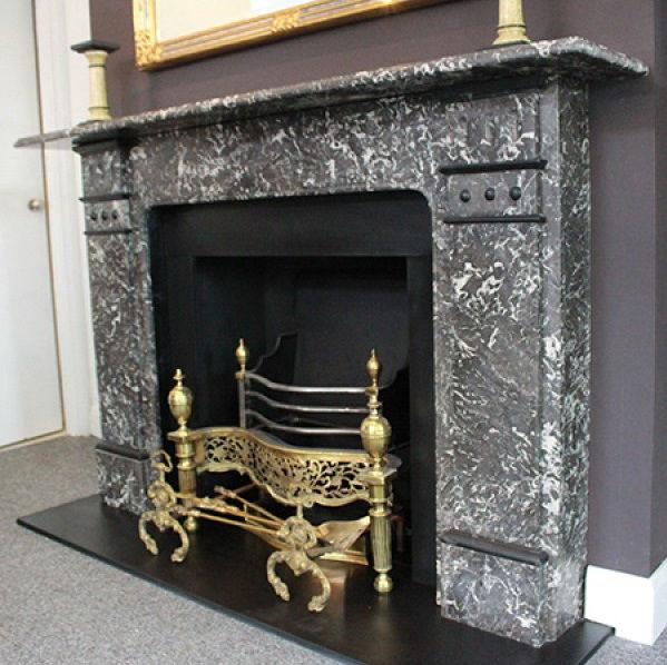 GX-30001 - St.Anne's Noire Marble Edwardian Chimneypiece